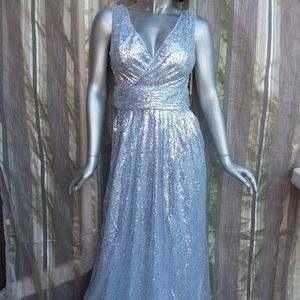 3 for $25 Medium Cocktail Dress Silver Sequins NWT